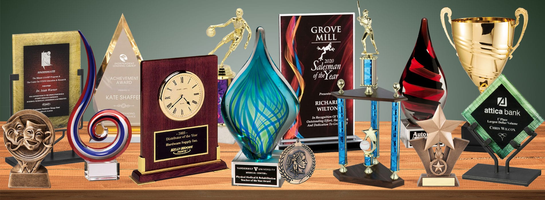 trophy, cups,, acrylic, awards,, crystal, medal, glass, clock